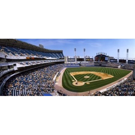 - High angle view of a baseball stadium US Cellular Field Chicago Cook County Illinois USA Poster Print