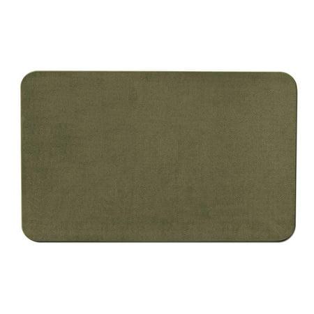 Dark Olive Area Rug (Skid-resistant Carpet Indoor Area Rug Floor Mat - Olive Green - 4' X 6' - Many Other Sizes to Choose)