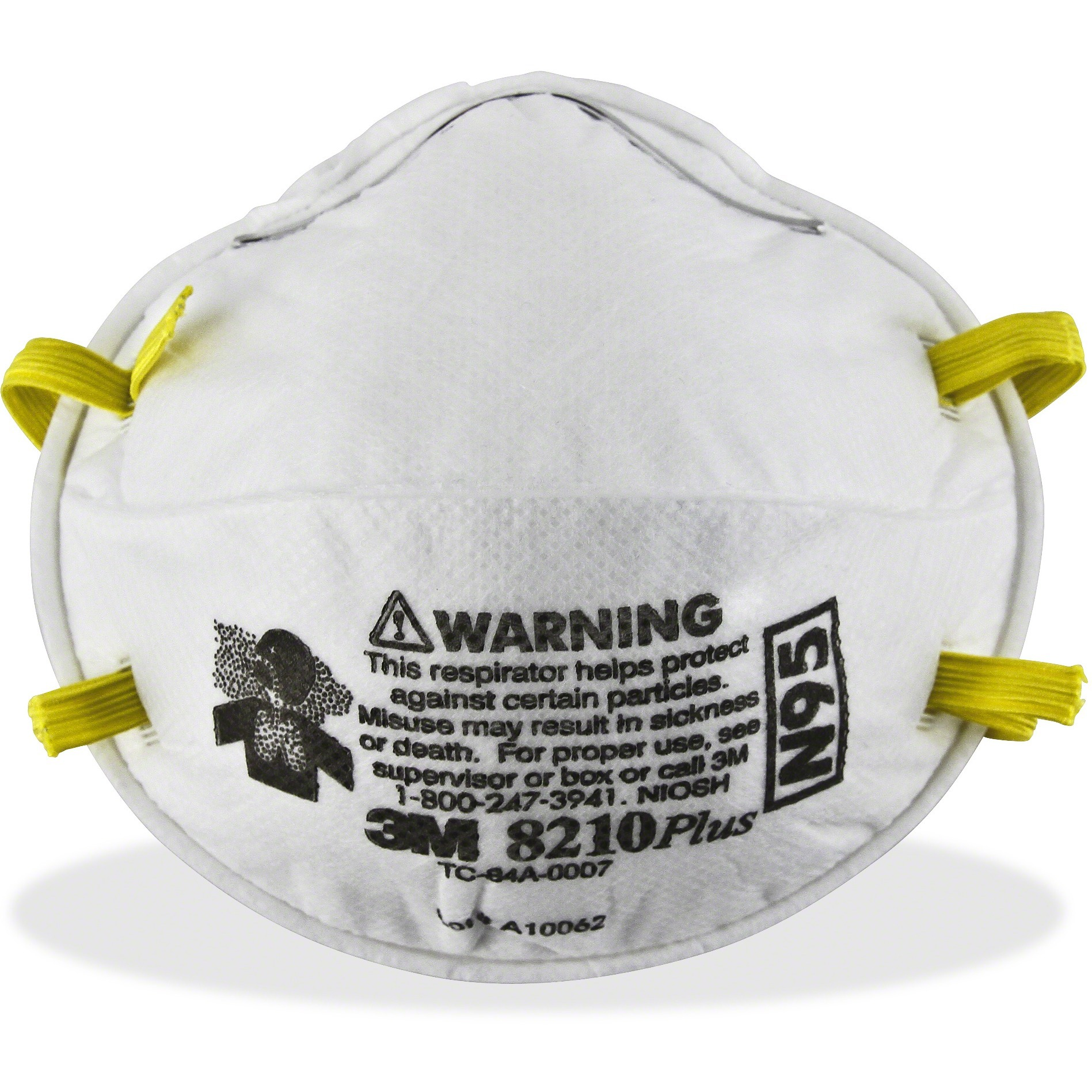3M 8210PLUS N95 Particulate Respirator, White, 20   Box (Quantity) by 3M