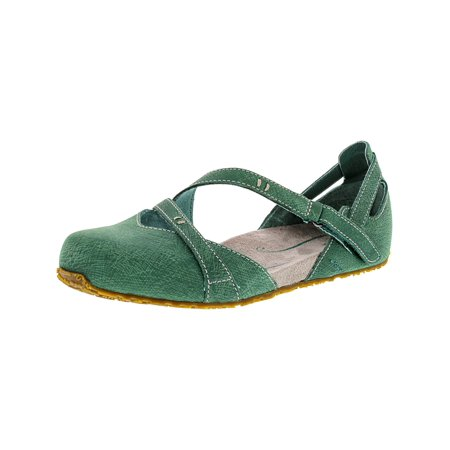 Ahnu Women's Tullia Dusty Teal Ankle-High Leather Ballet Flat - 5.5M for $<!---->