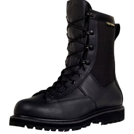 Rocky Work Boots Mens Duty Welt Leather Oil Resist Black FQ000804A