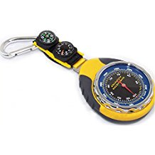 Wotefusi New Portable 4 in 1 Multifunctional Altimeter Barometer Compass Thermometer Direction Altitude Temperature Pressure (High Gear Aerial Altimeter)