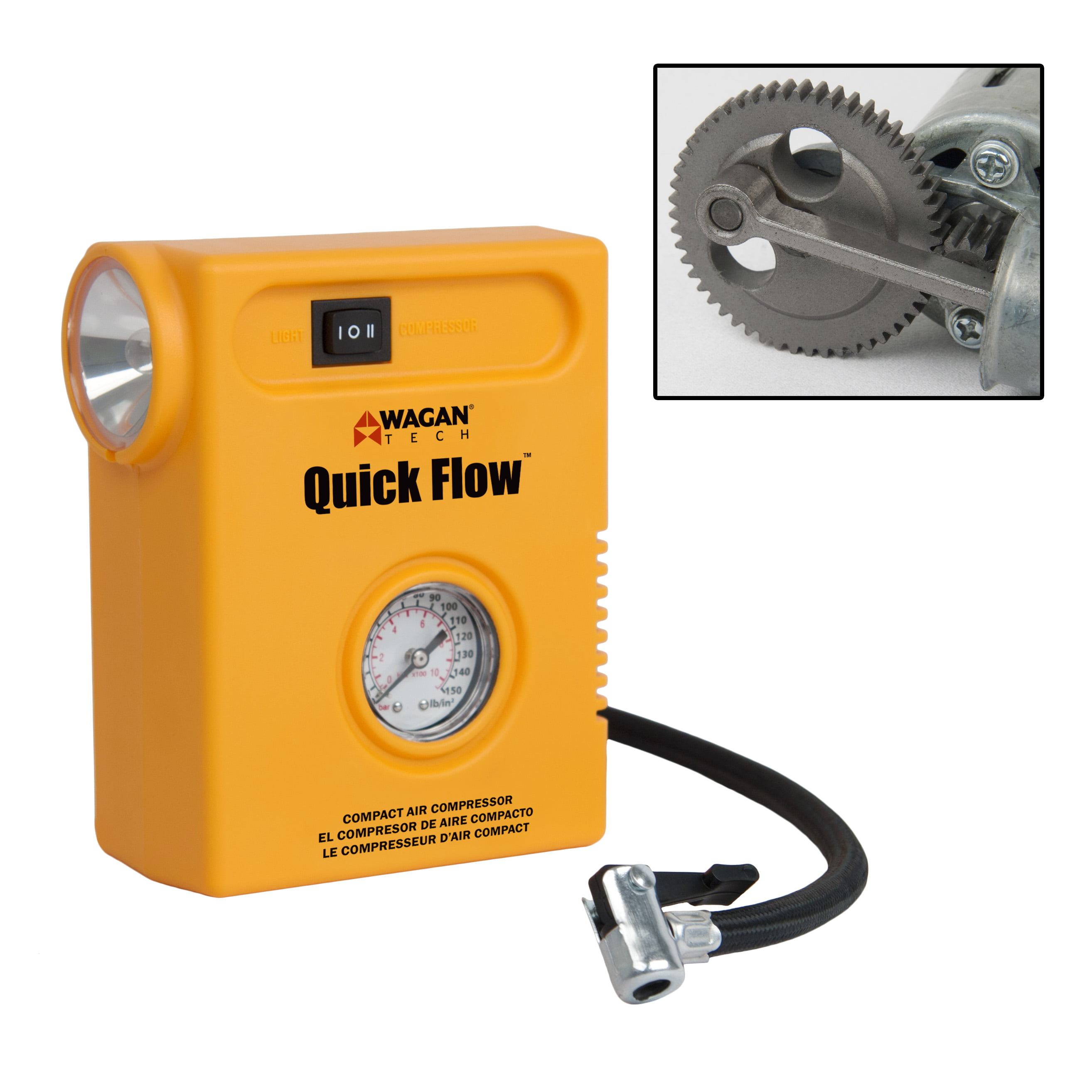Wagan Tech Quick Flow Compact Air Compressor by Wagan Corp.