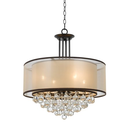 - Cal Lighting Tiffin FX-3644-4 Double Shade Chandelier with Crystals