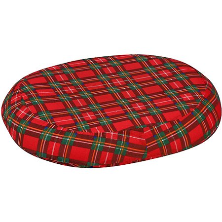 DMI Contoured Foam Ring Cushion, Plaid, 18