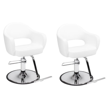 Sensational Set Of 2 Beauty Salon Styling Chair Carroll White A12 Thick Curvy Comfort Styling Chair Beauty Salon Furniture Equipment Interior Design Ideas Inesswwsoteloinfo