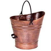 Minuteman C-85 Coal Hod - Pellet Bucket - Small - Antique Copper Finish