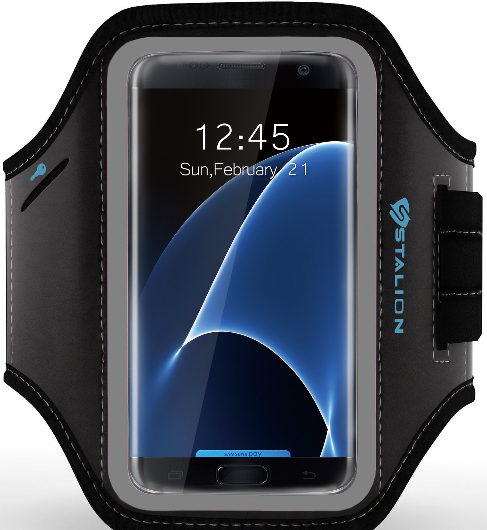 Stalion® Sports Running Exercise Gym Armband Case for Samsung Galaxy S7 Edge S8 S9