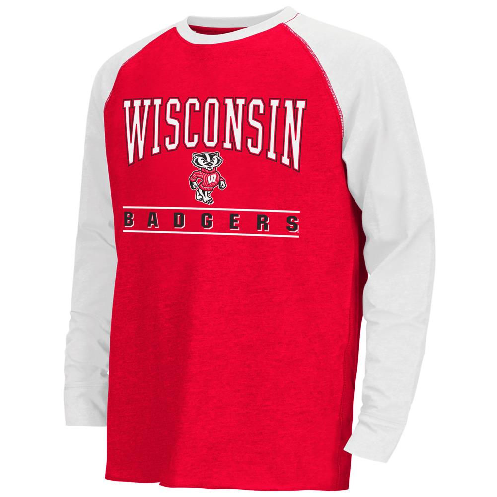 Youth Kryton Raglan University of Wisconsin Badgers Long Sleeve Tee