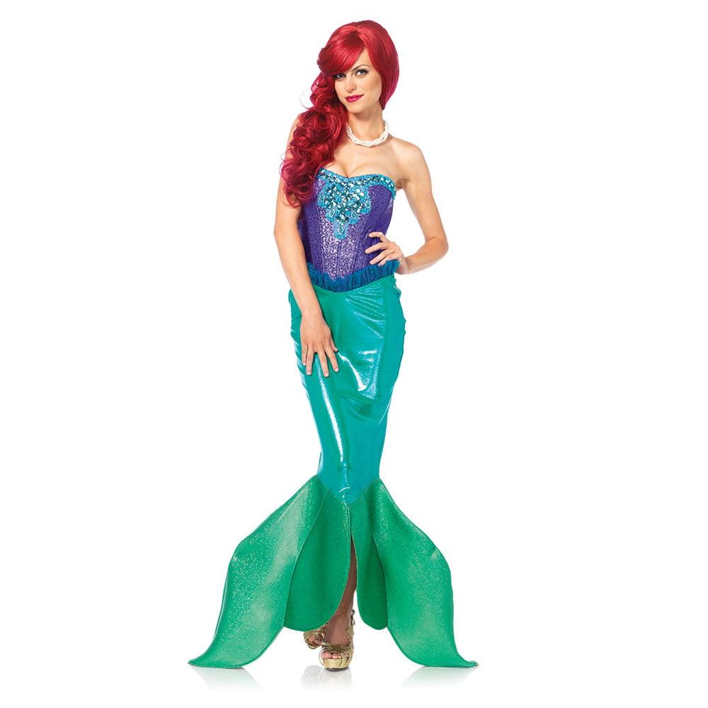 Leg Avenue Women's Deep Sea Siren Mermaid Costume, Green/Purple, Small