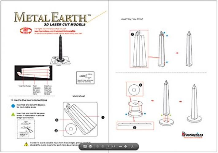Metal Earth Washington Monument