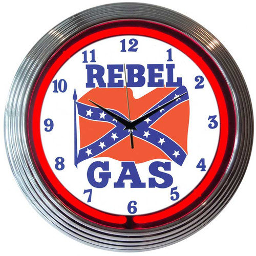 Neonetics Cars and Motorcycles 15'' Rebel Gas Wall Clock