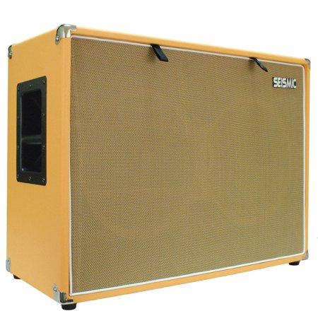 Seismic Audio 212 EMPTY GUITAR SPEAKER CABINET Cab  2x12 Orange Tolex - Luke-2x12TR_ORWH Empty Guitar Cabinet