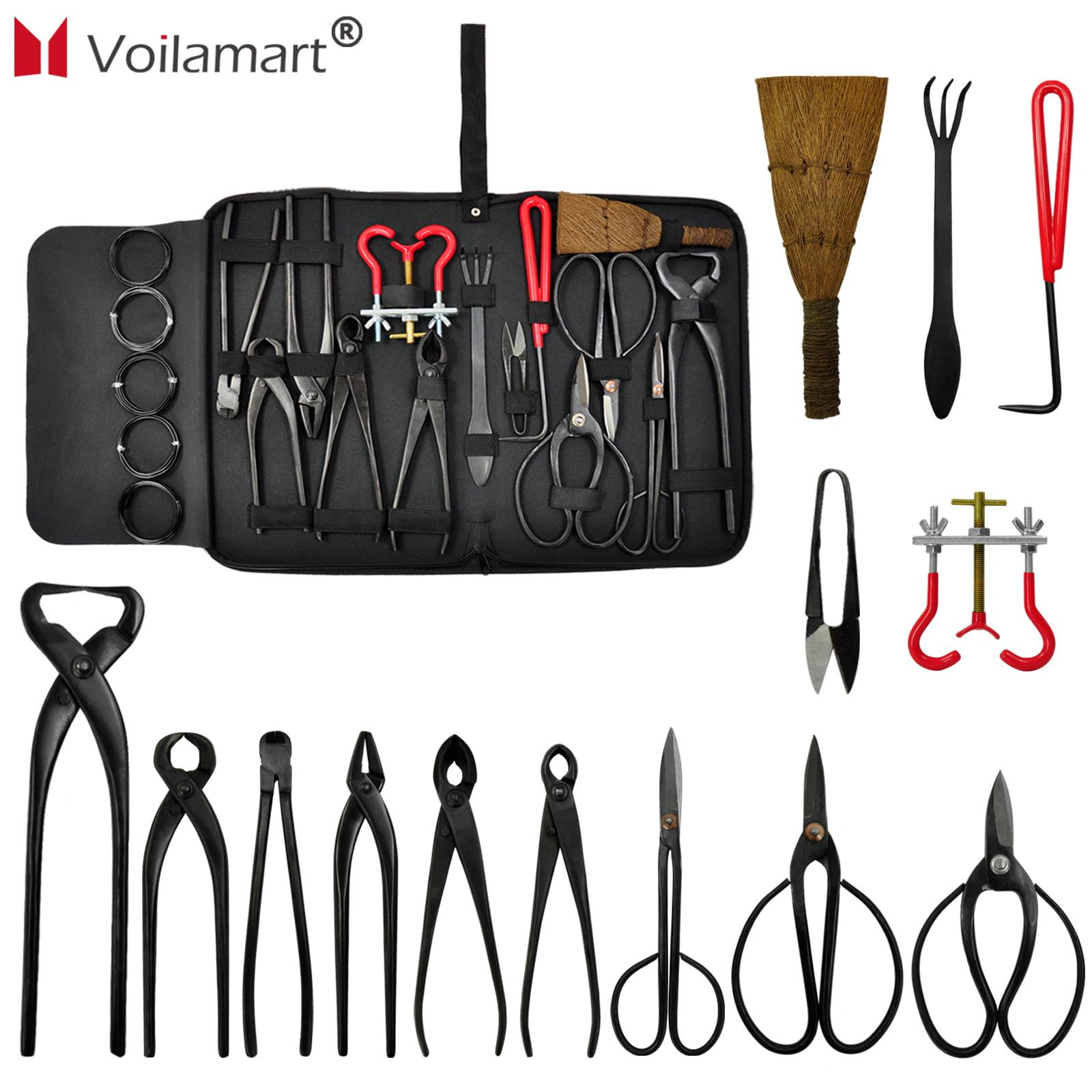 Voilamart 14 Piece Bonsai Tools Kit with Case, Carbon Ste...
