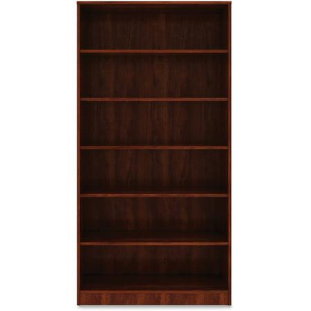 Lorell, LLR99791, Cherry Laminate Bookcase, 1 Each, Cherry