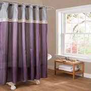 Gray And Purple Shower Curtain Reflections  X  Purple Fabric - Purple and gold shower curtain