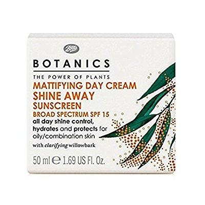 boots botanics shine away mattifying day cream spf15