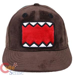 Baseball Cap - Domo Kun - Face Plush New 504651