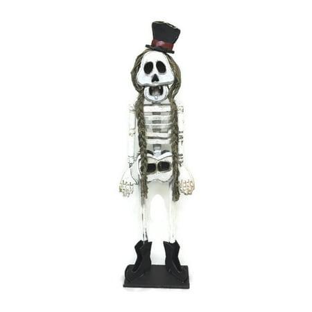 Female Skeleton Figurine Wooden Spooky Pal Halloween Decor 46