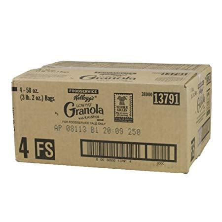 Kellogg's Low Fat Granola with Raisins Cereal, 50