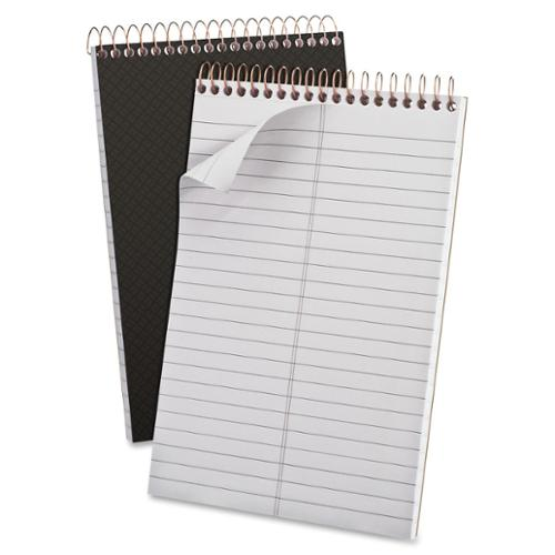 "Ampad Designer Steno Notebook - 100 Sheet - 20 Lb - Gregg Ruled - 6"" X 9"" - 1 Each - White Paper Gray Cover (AMP20808)"