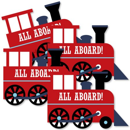 Railroad Party Crossing - Train Decorations DIY Steam Train Birthday Party or Baby Shower Essentials - Set of 20 - Railroad Crossing Costume