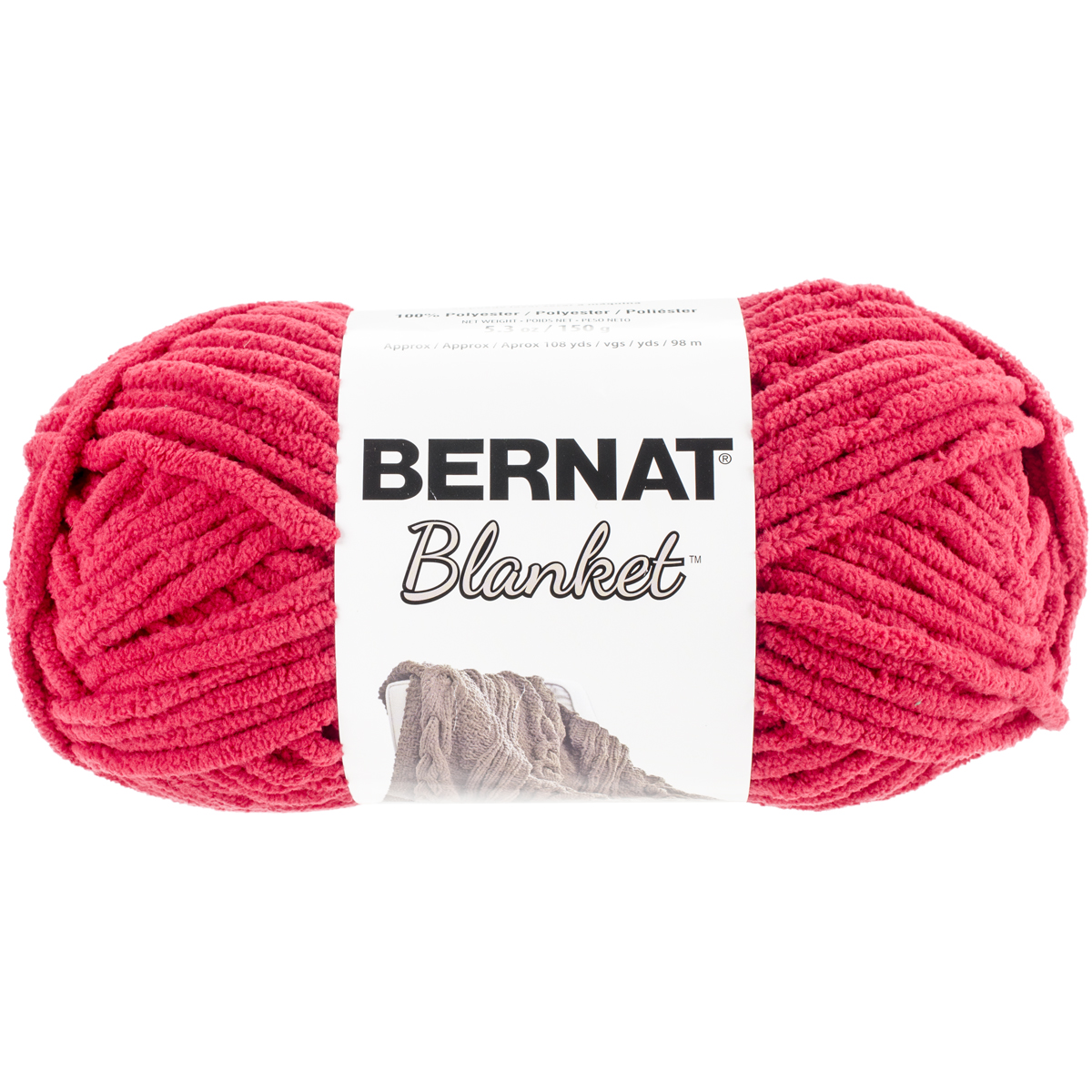 Bernat Blanket Yarn, 150g, Cranberry