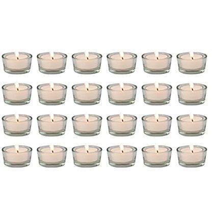 Tealight Candelabra (Biedermann & Sons Glass Tealight Holders, Box of 24 )