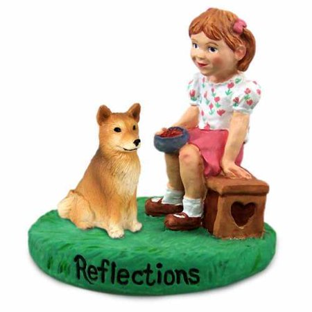 RGD117 Finnish Spitz Reflections w/Girl Figurine