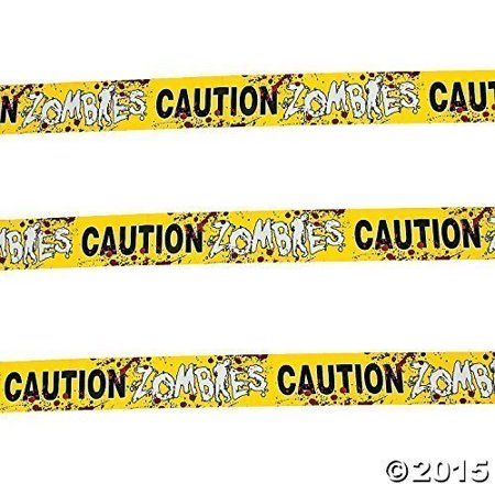 Fun Express 1 Caution Zombies Party Tape Roll, 20' (2-Pack)](Caution Zombies)