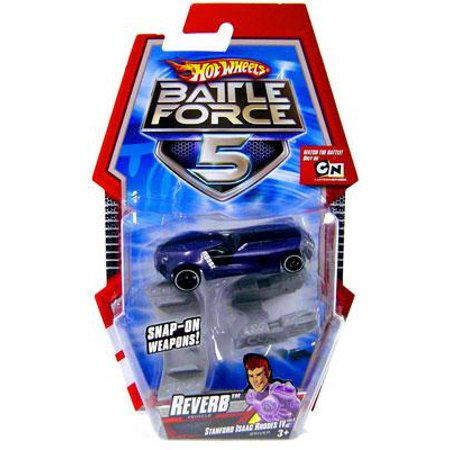 Hot Wheels Battle Force 5 Reverb 1/6 Diecast Vehicle [With Blasters]