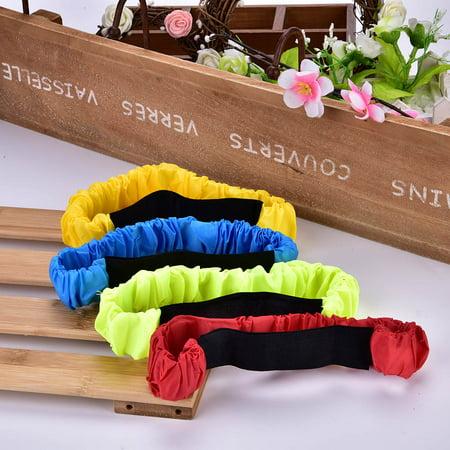 Qiilu Leg Race Bands, Race Tie Rope,4Pcs Three Legged Ropes Elastic Sport Tie Rope Foot Running Race Game for Children Kids - image 5 of 12