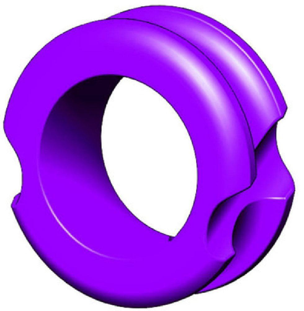 "G5 Outdoors Meta Pro Peep Hunter Sight Large 1/4"", Purple - 140B-PURPLE"