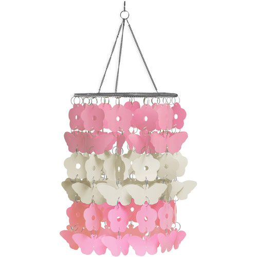 WallPops Butterfly Flower Chandelier (Light cord not included)