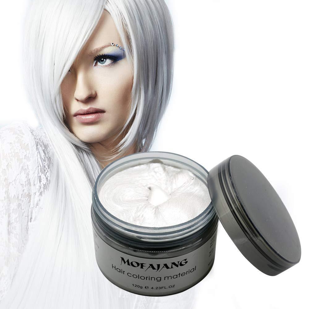 Mofajang Natural Hair Wax Color Styling Cream Mud Natural Hairstyle Dye Pomade Temporary Hairstyle Cream 4 23 Oz Hairstyle Wax For Men And Women White White Walmart Com Walmart Com