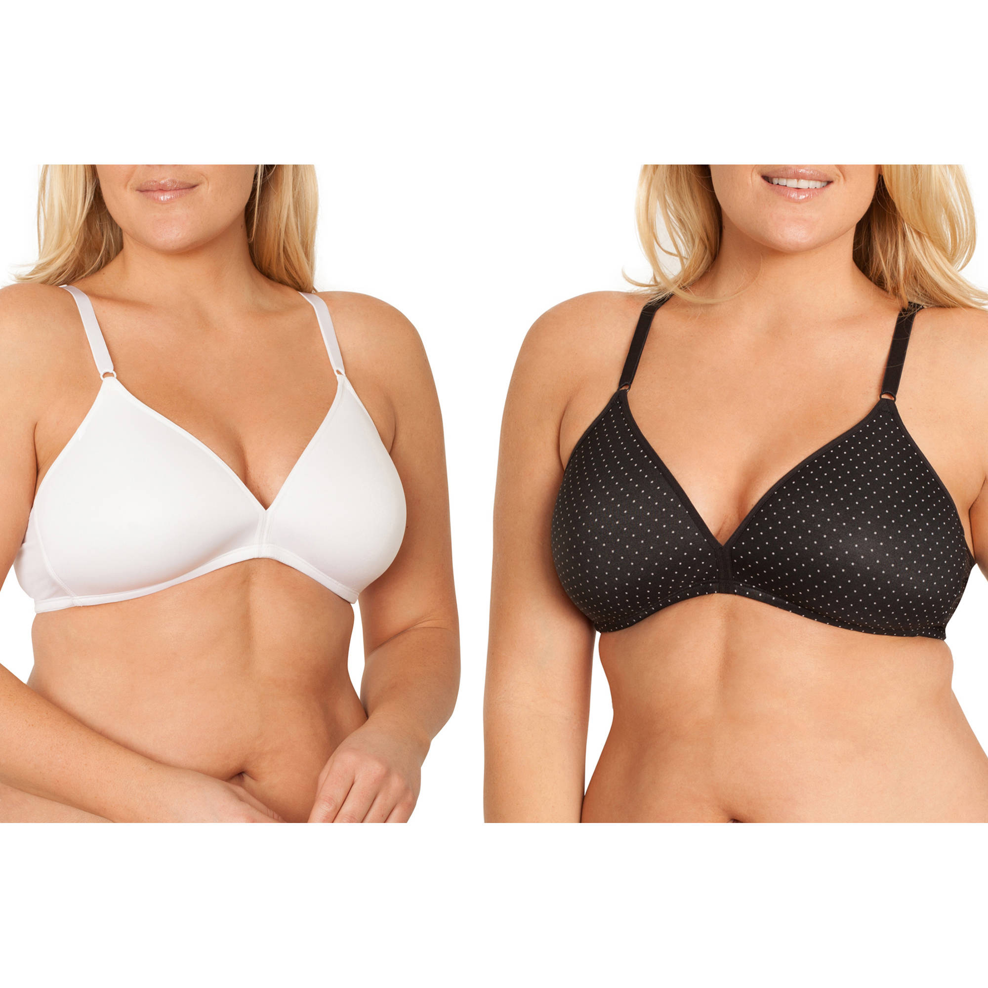 Fruit of the Loom Women's Wirefree Bra, Style FT488, 2-Pack
