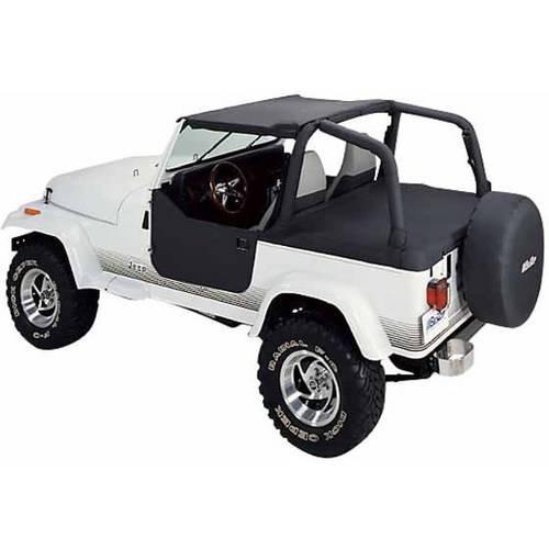Bestop 52519-15 Jeep Wrangler Strapless Bikini Top, Black Denim