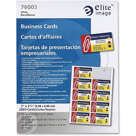 Elite image laser printer business cards walmartcom for Walmart business card printing