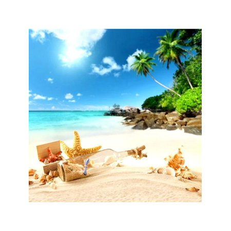 3x5FT(90×150cm) Summer Beach Scene Photography Backdrop Vinyl Background For Studio Photo Prop for $<!---->