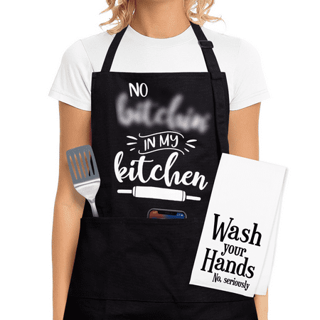 Funny Cooking Apron For Women - Funny Cooking Gifts For Women Who Love To Cook, Gift Aprons For Women With Pockets - Funny Kitchen Aprons For Women, Funny Gifts For Women Birthday, Funny Gifts For Mom Funny Aprons For Women - This kitchen apron could be one of your cool gifts for women who has everything. Our apron with pockets is made from premium cotton and polyester for effortless washing and maintenance. Our cute kitchen aprons for women is an absolute must-have when you're manning the kitchen for mess-free food preparation. Don't forget to cook your meals and clean your working area while wearing our culinary cooking apron. Cooking Gifts For Women Who Love To Cook - Do you know someone who loves cooking and baking? Our unique cute aprons for women are a one of a kind funny gifts for women. These kitchen aprons with pockets fit most sizes with long ties that can be easily altered. These cooking aprons for women make awesome funny gifts for mom or chef apron for women who love preparing sumptuous meals for the family. Aprons For Women Cute - The search for cooking gifts for women who love to cook is finally over. Our cooking apron for women features a humorous phrase that will put a smile on the faces of the special woman in your life. These aprons for women could be your next funny gifts for women birthday. This funny kitchen apron for women helps cover your clothes from splashes and grime while you're cooking or serving. Funny Kitchen Apron For Women - Our aprons for women with pockets has three large and deep pockets located in the mid-section. You can place ingredients and cooking tools for easier access. These funny aprons for women is an excellent gift and accessory to have for baking businesses or daily cooking routines. These funny aprons for cooking are the perfect choice as cooking gifts for women with its practical design and gag-worthy phrase inscribed in the front. Aprons For Women With Pockets - These aprons for women with sayings are excellent funn