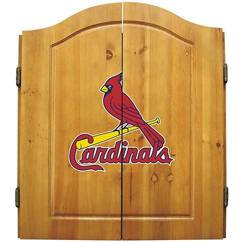 St. Louis Cardinals MLB Dartboard Cabinet Set