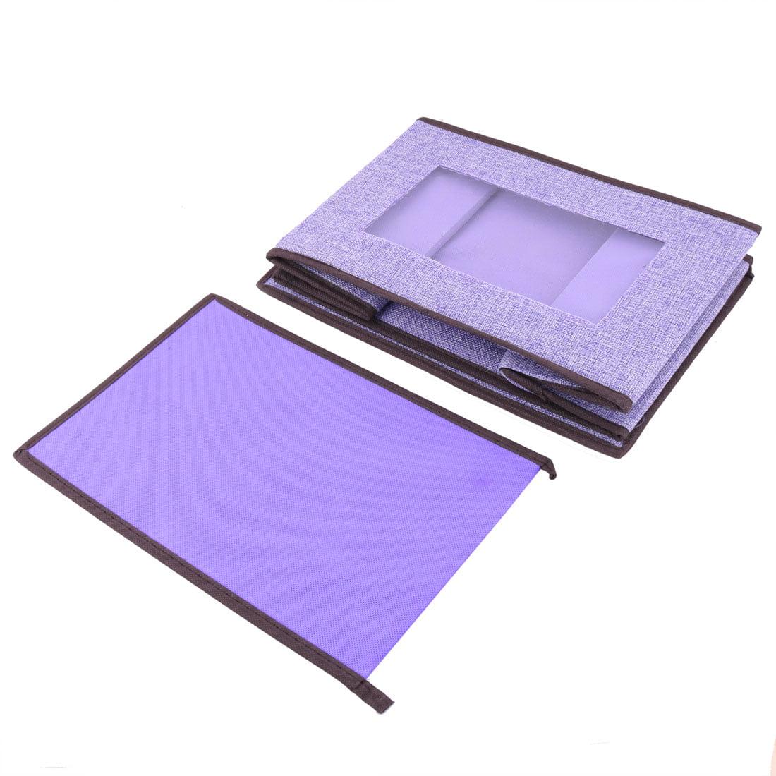 31.5 x 20.5 x 20.5cm Light Purple Linen Foldable Clothes Socks Organizer Box Holder - image 2 of 3