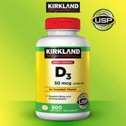 Vitamin D3 2000 IU, 600 Softgels Important for healthy bones, teeth and muscles,