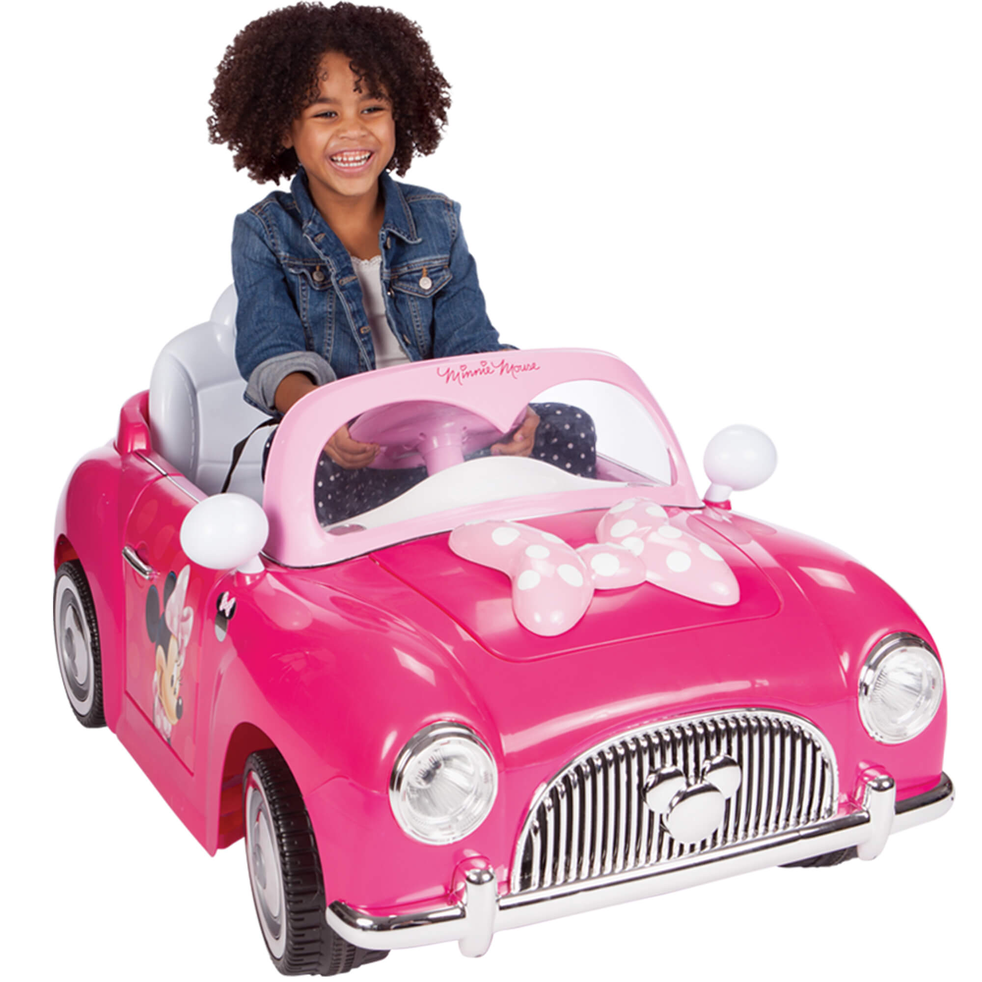 Disney Minnie Girls' Battery-Power 6-volt Electric Ride On Car, by Huffy