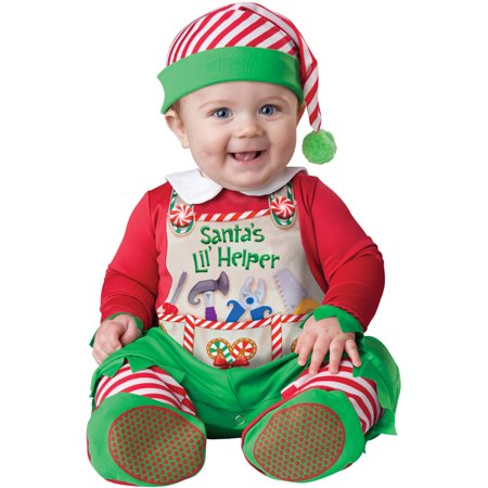 Santa's Lil' Helper Infant/Toddler (Jolly Green Santa's Helper Christmas Costumes)