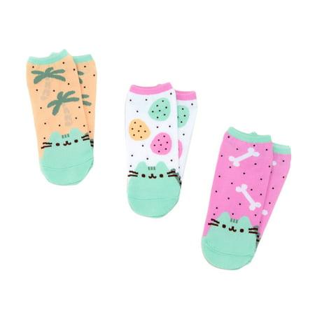 Pusheen The Cat 3-Pack Pusheenosaurus Ankle Socks - Cat In The Hat Socks