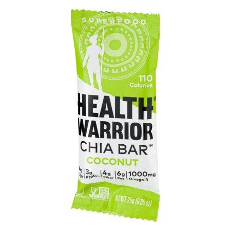 Health Warrior Chia Bar Coconut, 0.88 OZ