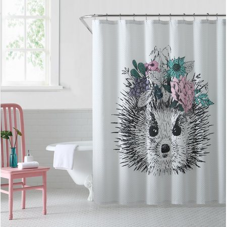 Oh Hello Shower Curtain Hedgehog 72x72
