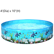 """HALLOLURE 4ft - 8ft Foldable Swimming Pool, Bathing Pool, Family Swimming Pool Swimming Pool Kids Paddling Pool for Boys Girls Outdoor Summer Play 15"""" (H)"""