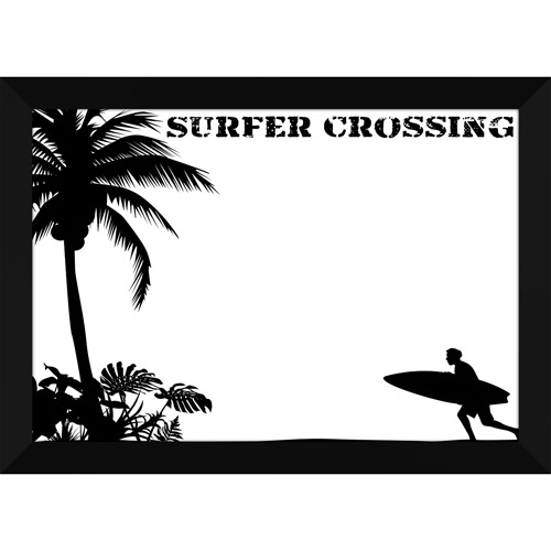 Surfer Crossing Whiteboard